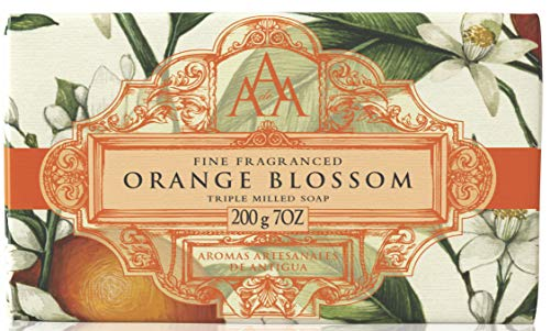 AAA by Somerset Bar Soap, Fine Fragranced Orange Blossom, Triple Milled Soap Bar, 200g, 1 count