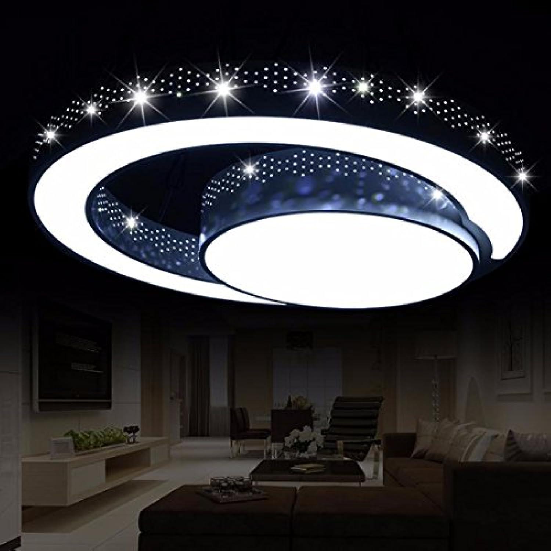 OLQMY-LED Deckenleuchte, geformt, Schlafzimmer Lampen, Schmiedeeisen Wohnzimmerlampe, Raumbeleuchtung, 45cm