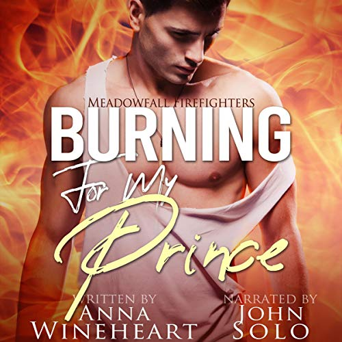 Burning for My Prince: A Secret Baby MPreg Romance audiobook cover art