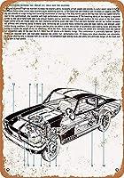シェルビーGT 350-Hブリキ看板ヴィンテージ錫のサイン警告注意サインートポスター安全標識警告装飾金属安全サイン面白いの個性情報サイン金属板鉄の絵表示パネル