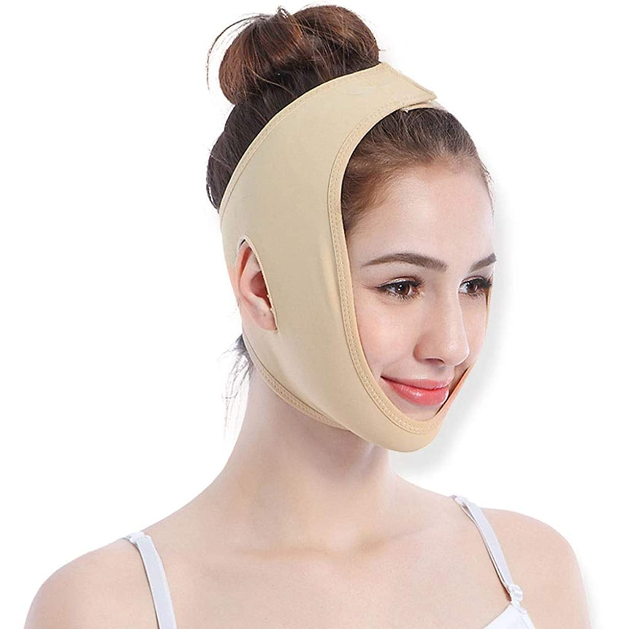 アヒル野ウサギ専らGYZ フェイスリフティングアーティファクトシンフェイスリフティングファーミングリフティングファーミング美容機器を送信するフェイシャルマッサージVフェイスマスクステッカー - スキンカラー4サイズオプション Thin Face Belt (Size : S)