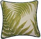 McAlister Textiles Tapestry | Besticktes Zierkissen mit Füllung grüner Waldfarn | 40 x 40cm...