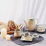Nesirooh Platzset Filz 9er Set, rutschfest Hitzebeständig Waschbar Tischsets und Untersetzer für Dinnerpartys zu Hause - 6
