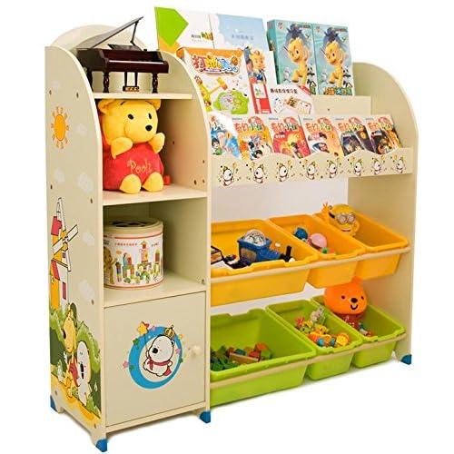 Estantería infantil para libros y juguetes de SZ5CGJMY®, organizador para cajas,