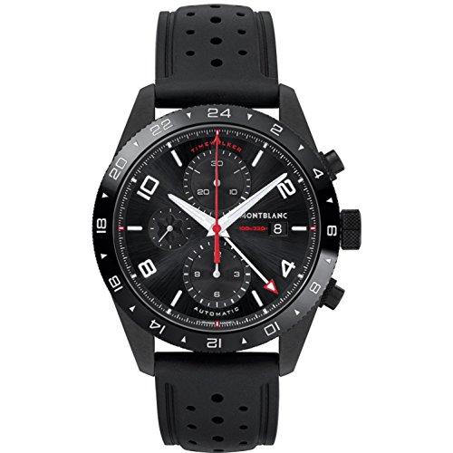 Montblanc TimeWalker Herren-Armbanduhr 43mm Armband Kautschuk Automatik 116101