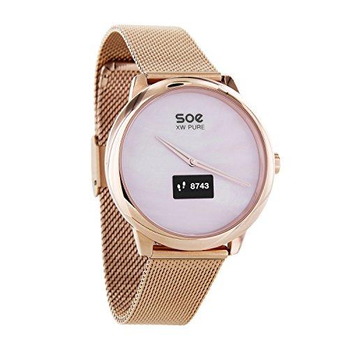 X-WATCH 54017 Hybrid-Smartwatch SOE XW Pure | Damen Android - Fitnesstracker Uhr iOS mit WhatsApp Rose Gold