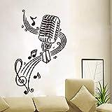57X88cm Score De Mode et Microphone Étanche Stickers Muraux pour Salon Sweet Art...