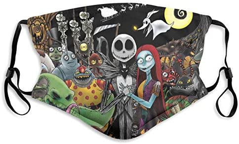 The Nightmare Before Christmas Dust Washable Reusable with 2 Filters and Reusable Face Mouth product image