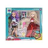 KING JUGUETES Pack 2 Muñecas Princesas con Disfraces, Zapatos y Accesorios Elegancy Queen. Muñecas Articulables con...