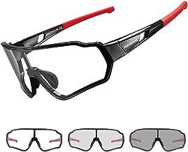 ROCKBROS Meekleurende Zonnebril voor Heren, Dames, Volwassenen, Tieners, Sportbrillen UV400 Beschermingsbril Fiets voor Bu...