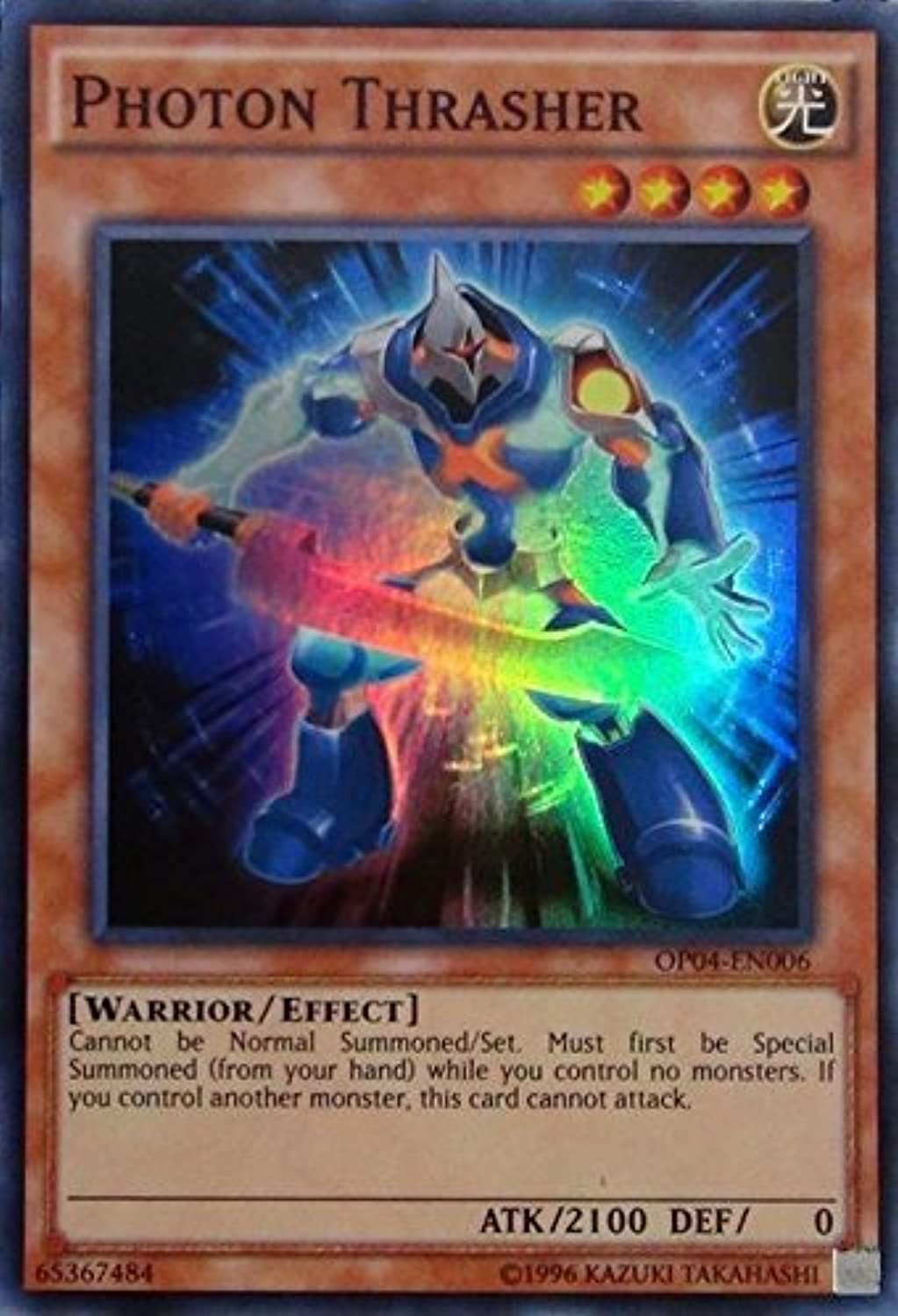 Yugioh Photon Thrasher OP04-EN006 Super Rare Unlimited Edition OTS Tournament Pack 4 Cards