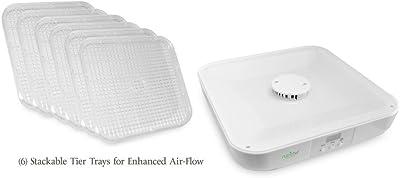 nutrichef pkfd16Deshidratador de alimentos & Digital Alimentos Preserver eléctrica de alimentos, color blanco
