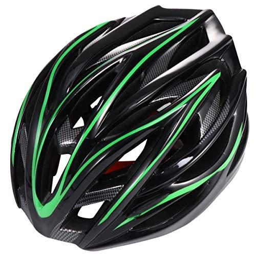 CLISPEED Capacete Esportivo Adulto Capacete de Bicicleta Capacete de Ciclismo de Estrada Capacete de Segurança Cabeça Guarda de Proteção (Verde)