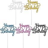Yaomiao 25 Pièces Topper de Gâteau d'anniversaire Choix de Petit Gâteau Joyeux Anniversaire pour la Décoration de Fête