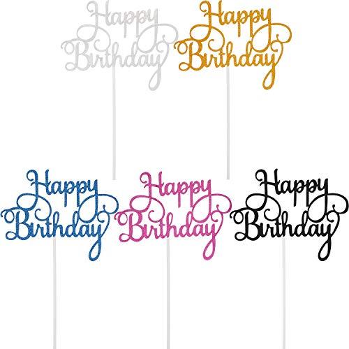 Disfruta de un tiempo feliz con tus amigos: la decoración de tartas cuidadosamente preparada, es una parte indispensable de la fiesta de cumpleaños, mostrando tu amor a los invitados, esta decoración para tartas te ayudará a terminar el momento impor...