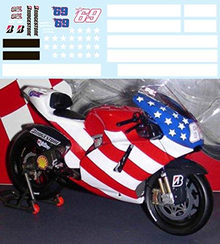 1/12 Test Bike Ducati GP9 Nicky Hayden 2008 2009 Season Decals TB Decal TBD40