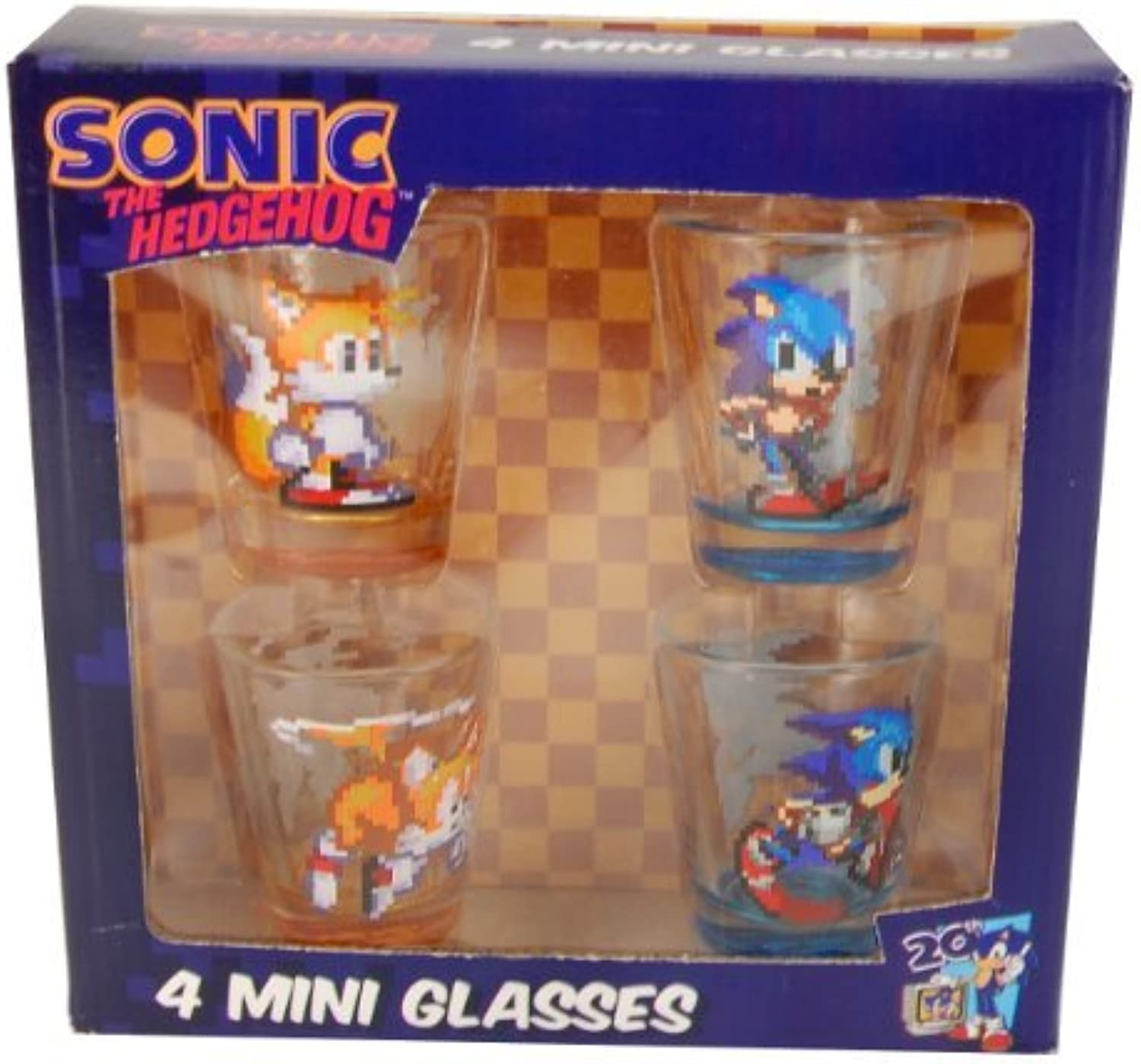 Sonic The Hedgehog Shot Glass Set of 4 by JUST FUNKY