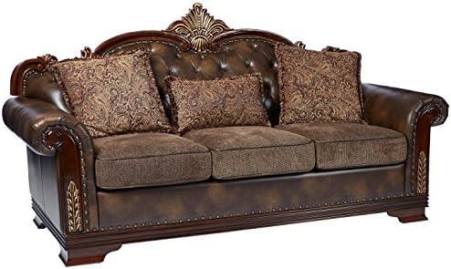 Best Homelegance 9815-3 Croydon Traditional Two-Tone Sofa, 86