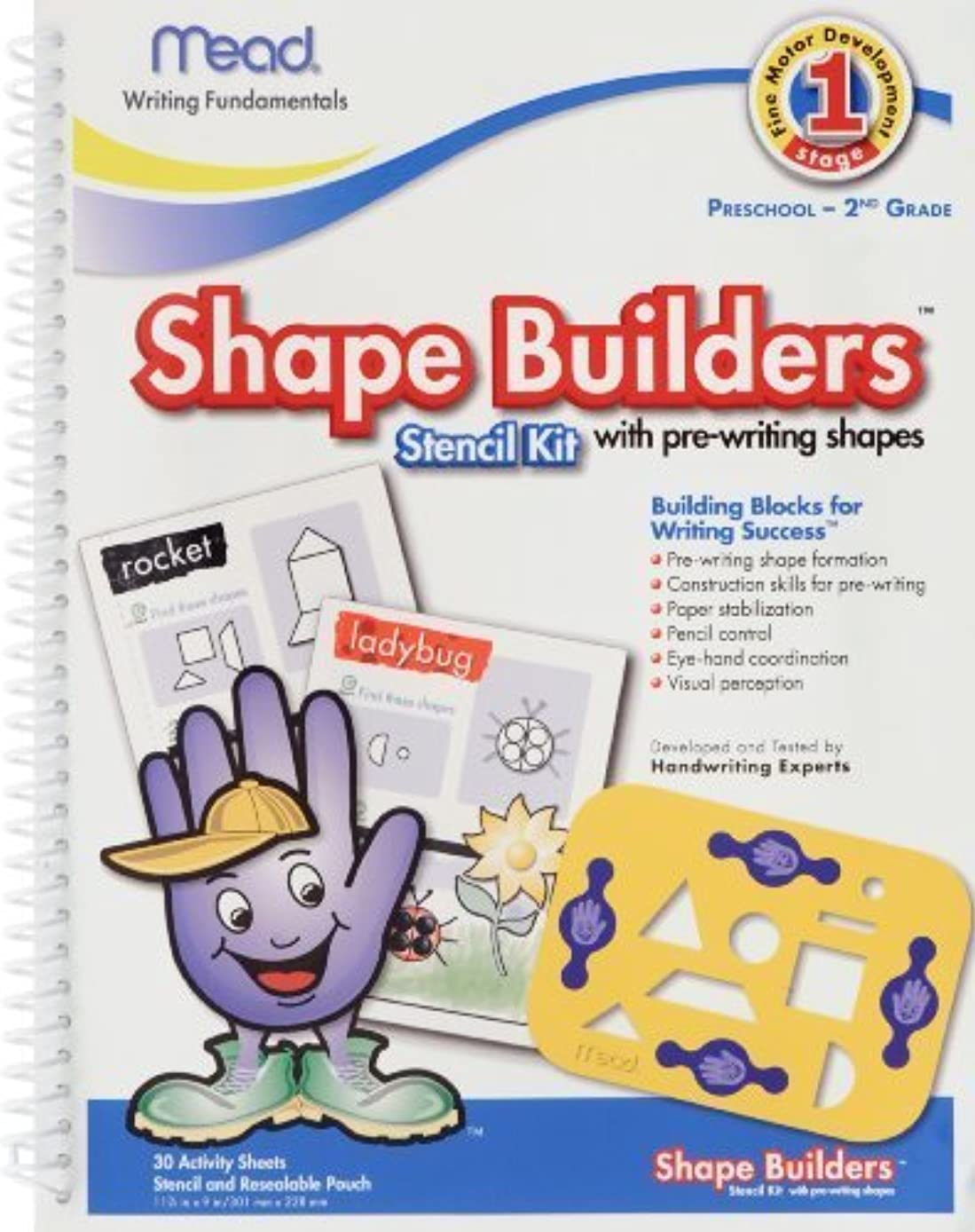 Mead Shape Builder Stencil Kit with Pre-writing Shapes