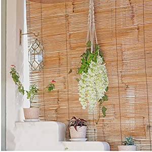 Artificial Wisteria Flowers – Fake Wisteria Flowers Vines with Textured Leaves – can be Hung for Wedding – Home Decoration-Modeling