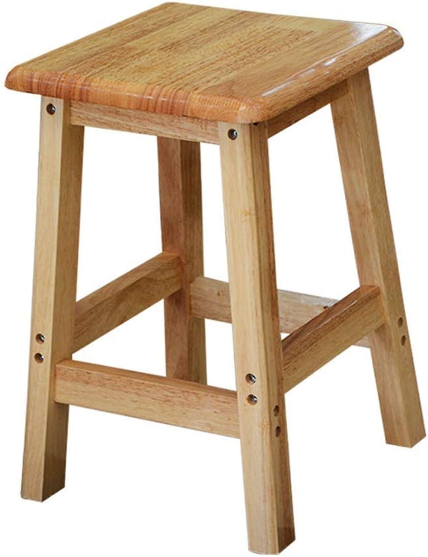Footstool, Solid Wood bar Stool, Square Stool, Simple high Stool Multifunctional Storage Footstool (Size   45CM)