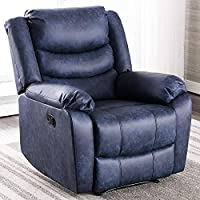 ANJ Recliner Chair with Overstuffed Arm and Back