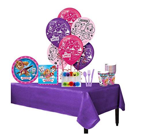 db Products Paw Patrol Rosa niñas Completo Paquete de Fiesta de cumpleaños para 8Incluye Platos de…