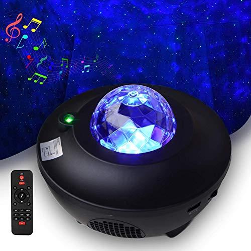 Serra LED Sternenhimmel Projektor Light - Galaxy Light für Kinder & Erwachsene Zimmer Dekoration - Nebu Licht Starry Music Projector mit Fernbedienung & Timer, Bluetooth Lautsprecher