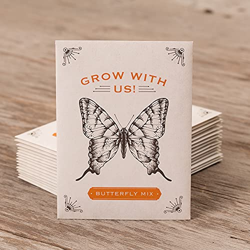 Bentley Seeds Grow with Us Pre Filled Butterfly Mix Seed Packets - 25...