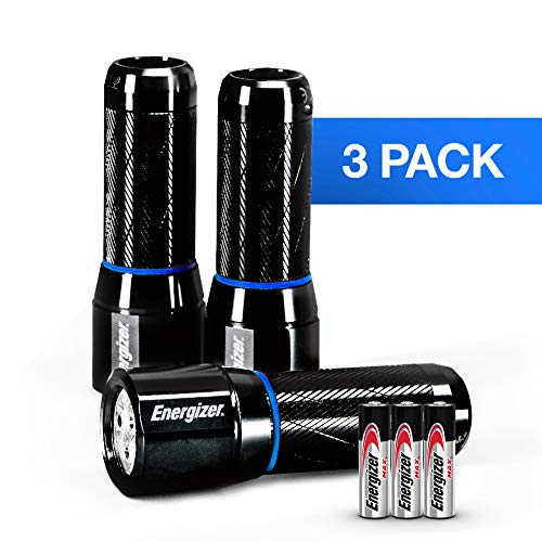 Energizer Metal LED AAA Flashlight 3pk, Vision HD Performance Light, 250 Lumens (Batteries Included)