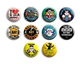 Funny Pinback Buttons - Mad Scientist (10-Pack) - Large 2.25' Pins for Men Women Teens Employees Professionals  Cool Fashion Accessories Indoor Outdoor Wear  Epic Collection Set Stocking Stuffers