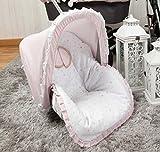 Babyline Sueños - Colchoneta para silla grupo 0, color rosa