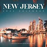 """New Jersey 2022 Calendar: From January 2022 to December 2022 - Square Mini Calendar 8.5x8.5"""" - Small Gorgeous Non-Glossy Paper"""