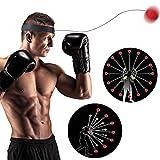 Boxtraining Ball YUESEN Reflex Fightball, Punch Boxing Ball mit Kopfband,Geeignet für Erwachsene/Kinder Fokus Training Übung Kopfband Speedball und Fitness der Hand-Auge-Koordination.