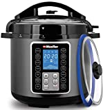 Mueller 6 Quart Pressure Cooker 10 in 1, Cook 2 Dishes at Once, Tempered Glass Lid incl, Saute, Slow Cooker, Rice Cooker, Yogurt Maker and Much More