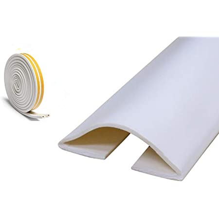 Durable Window for Home Door White//Beige Random Oumefar Silicone Seal Self Adhesive Draught Excluder Silicone Seal Sweep Strip 35mm5m