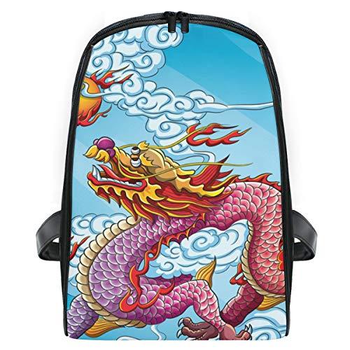 Mochila infantil DEZIRO con dibujo de dragón chino