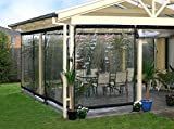 Waterproof Commercial Grade 0.5mm TPU Clear Awning Canopy Roll Up Patio Enclosure (8x4ft.)