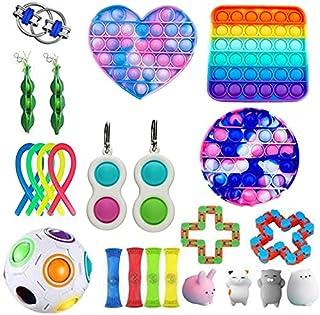 QASIMOF Fidget Toys Pack Ensemble de Jouets sensoriels Bon marché pour Enfants Adultes Figetget Toys Mini Pop Bundle Thera...