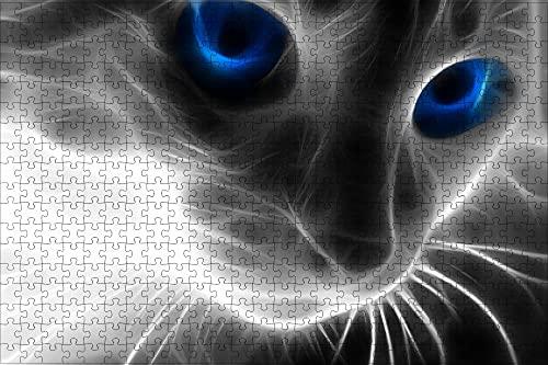 LHJOY Juegos de Mesa Puzzle 500 Piezas Arte Animal Gato Regalo de cumpleaños 52x38cm
