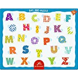 Pequeño Puzzle con marco de 26 piezas. El abecedario ABC