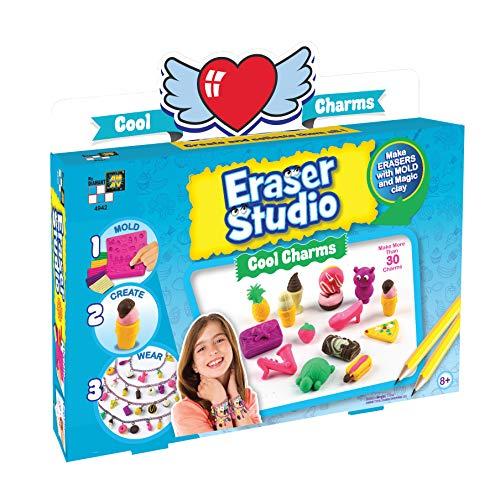Beluga Spielwaren 50708 Eraser Studio Cool Charms Radierer 50708-Eraser Radiergummi Bastelset, bunt