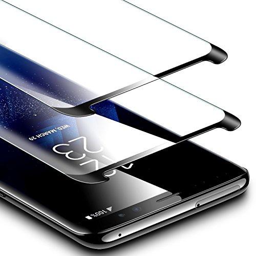 ESR Panzerglas Schutzfolie kompatibel mit Samsung Galaxy S9 Plus, 2 Stück 5-Mal verbesserte gehärtetes Glas Folie [Anti-Fingerabdruck] Displayschutzfolie Schwarz
