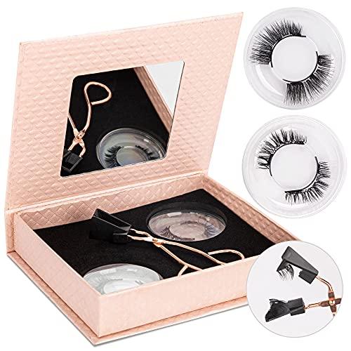 ShineMore Magnetic Eyelashes 2 Pairs Kit, Magnetic Eyelashes without Eyeliner, Glue-free Magnetic Eyelash Clip & Eyelashes Set with 2 Pairs Soft Magnetic False Eyelashes