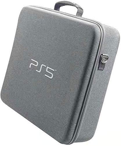 Funda de transporte PS5 Bolsa de viaje portátil para consola PS5, cubierta rígida de EVA, bolso de lujo, impermeable, a prueba de golpes, asa ajustable para auriculares Playstation 5