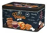 R2S 080ICOT Cookies Time - Caja de Galletas (Metal, 22x14x13cm), Multicolor