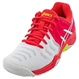 ASICS Kid's Gel-Resolution 7 GS Tennis Shoes, 5M, White/Laser Pink