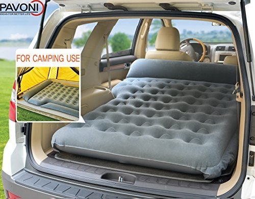 PAVONI Car Inflatable Air Camping Mattress Pad – with Electric Mattress Pump, Towel, Repair Patches & Storage Bag – Bed Mattress for SUVs, RVs & Minivans – Quick Inflation/Deflation – Durable & Comfy