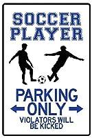 サッカー選手 金属板ブリキ看板警告サイン注意サイン表示パネル情報サイン金属安全サイン