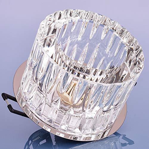 Glas Einbaustrahler mit G9 Fassung 230V Spot Deckenleuchte Deckenspot Einbauleuchte Kristall Einbauspot, Design 4